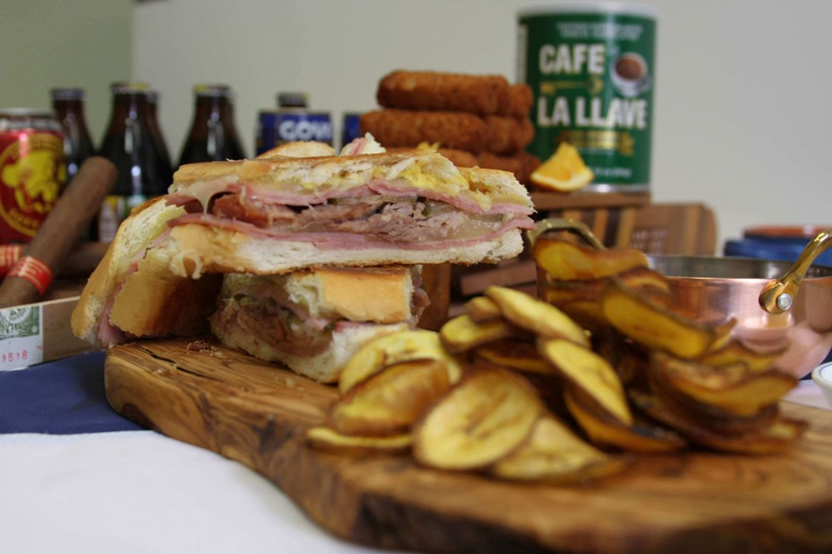 """A Cuban sandwich and croquettes on the """"Latin comfort"""" menu at Cubanidad 1885."""