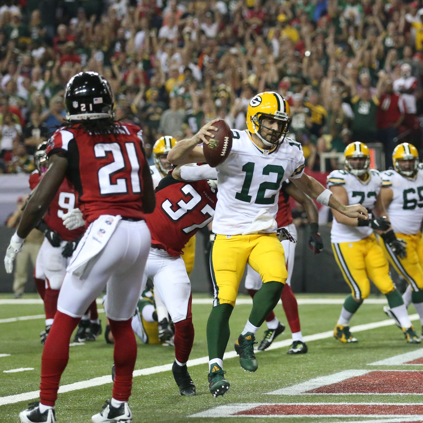 Nfc Championship Predictions Packers Can Pull Off A Close High Scoring Upset Over Falcons Acme Packing Company