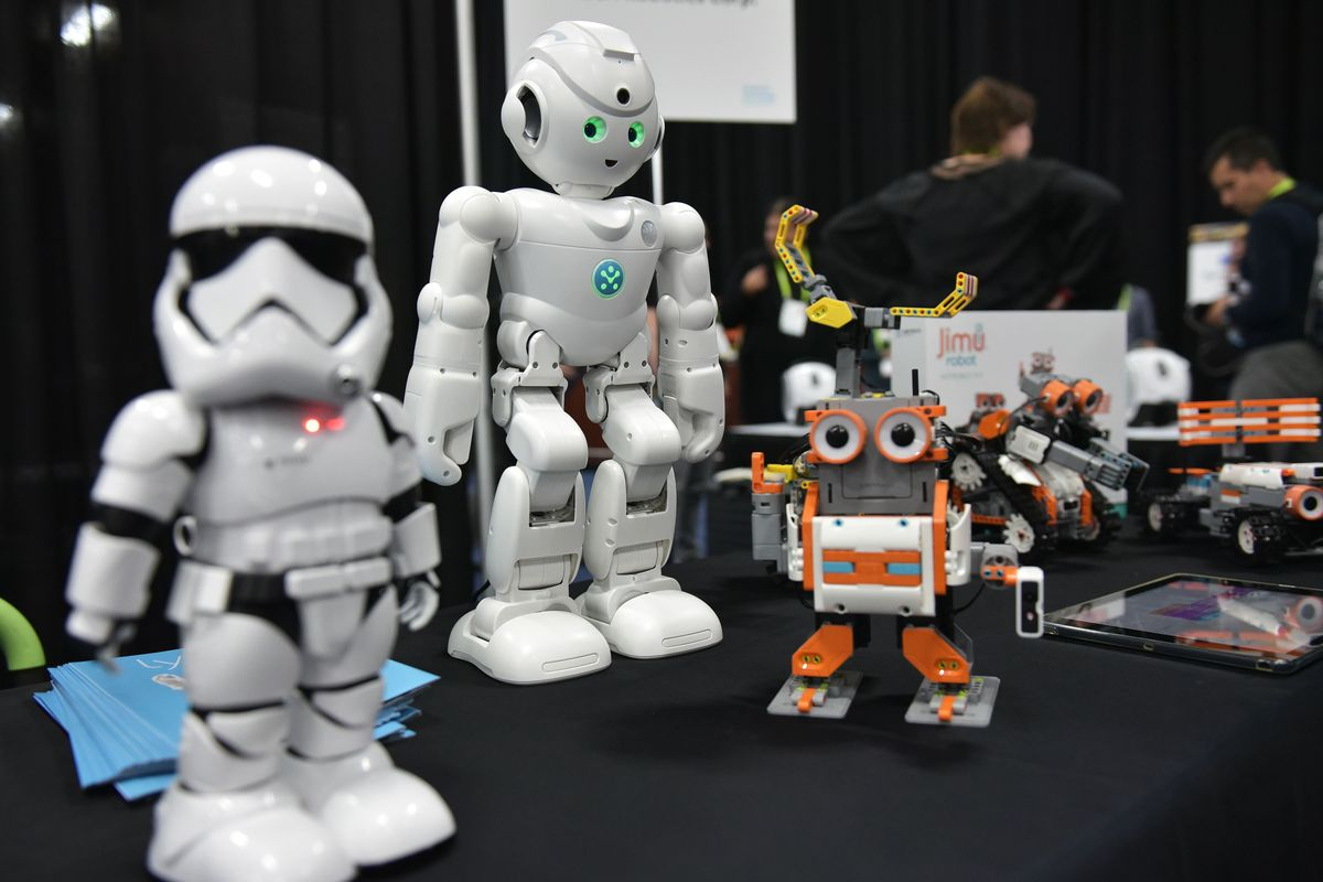 A display of small robots
