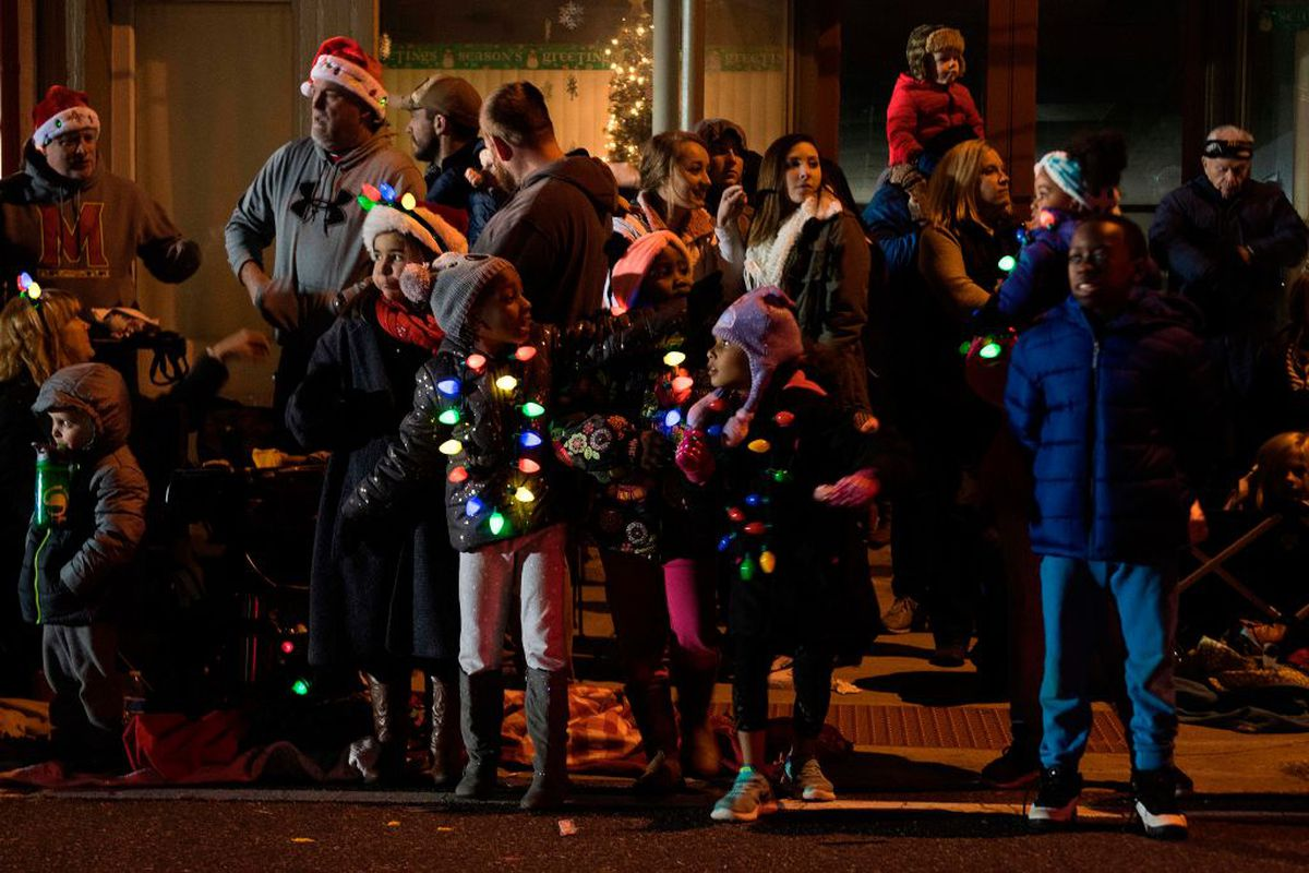 The Centreville Christmas Parade in Centreville, Maryland in 2017. (JIM WATSON/AFP via Getty Images)