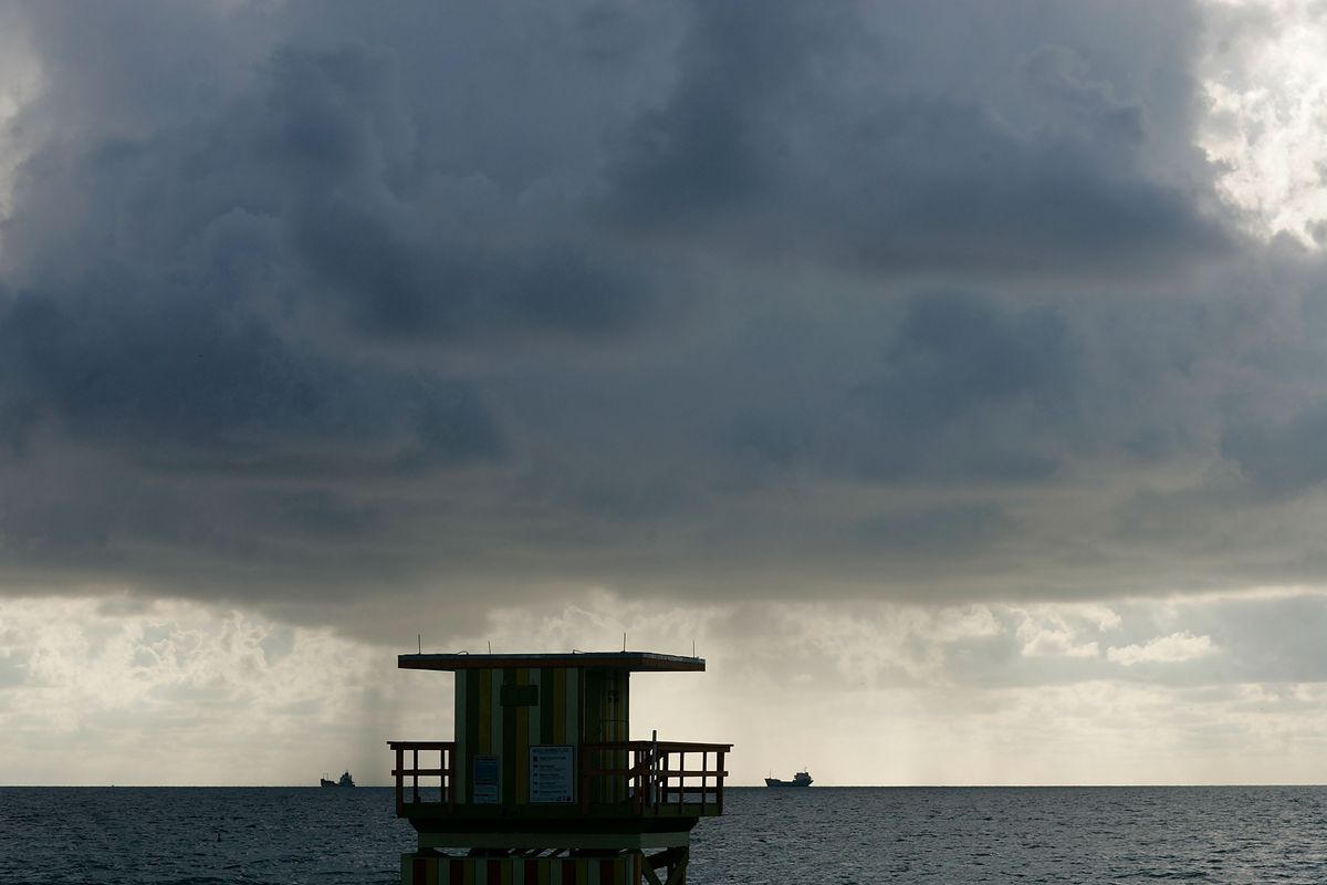 Dawn Finds Early Risers On Miami's Beaches