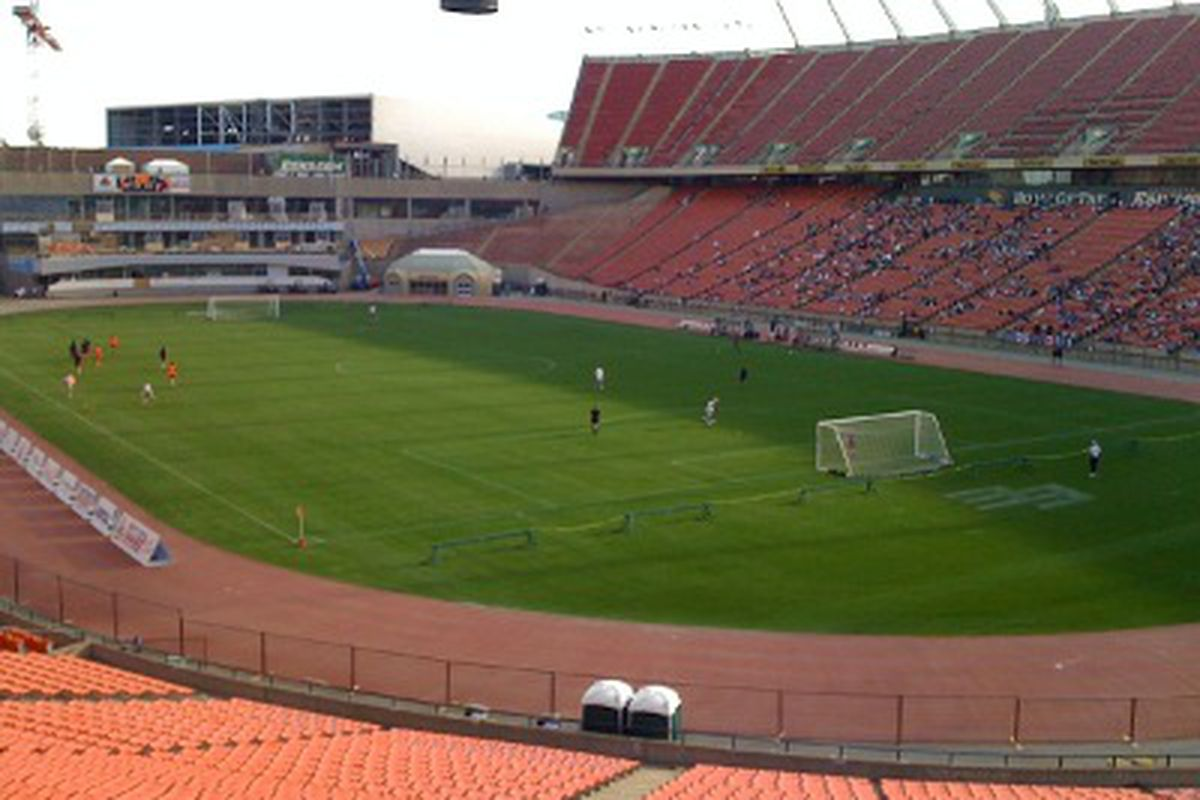 Commonwealth Stadium, the enormous, concrete, spiritual home of my soccer childhood. (Benjamin Massey/Eighty Six Forever)