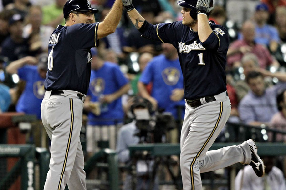 Corey Hart had the Brewers' first RBI tonight.