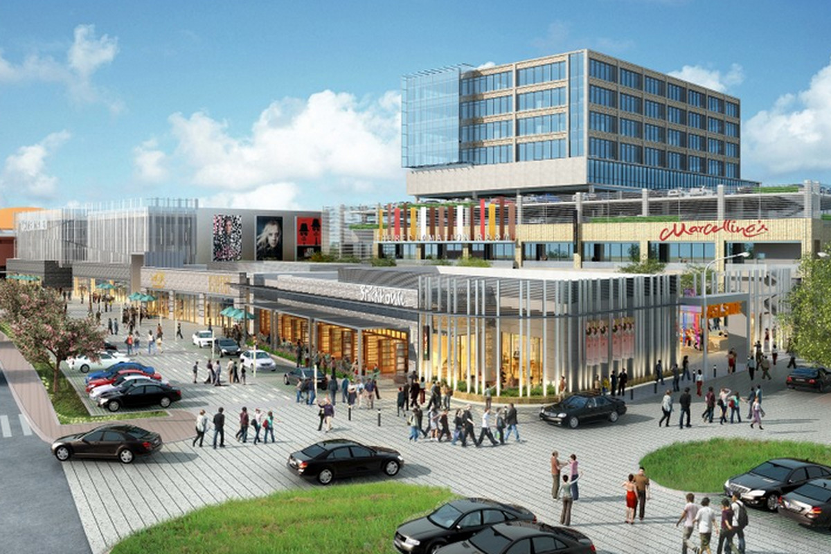 A rendering of the future Music Factory complex.