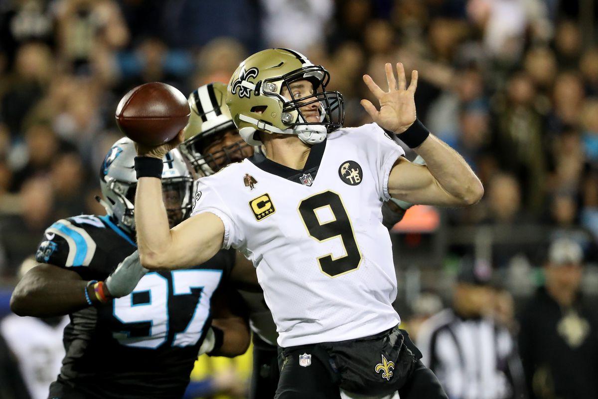 New Orleans Saints quarterback Drew Brees throws a pass