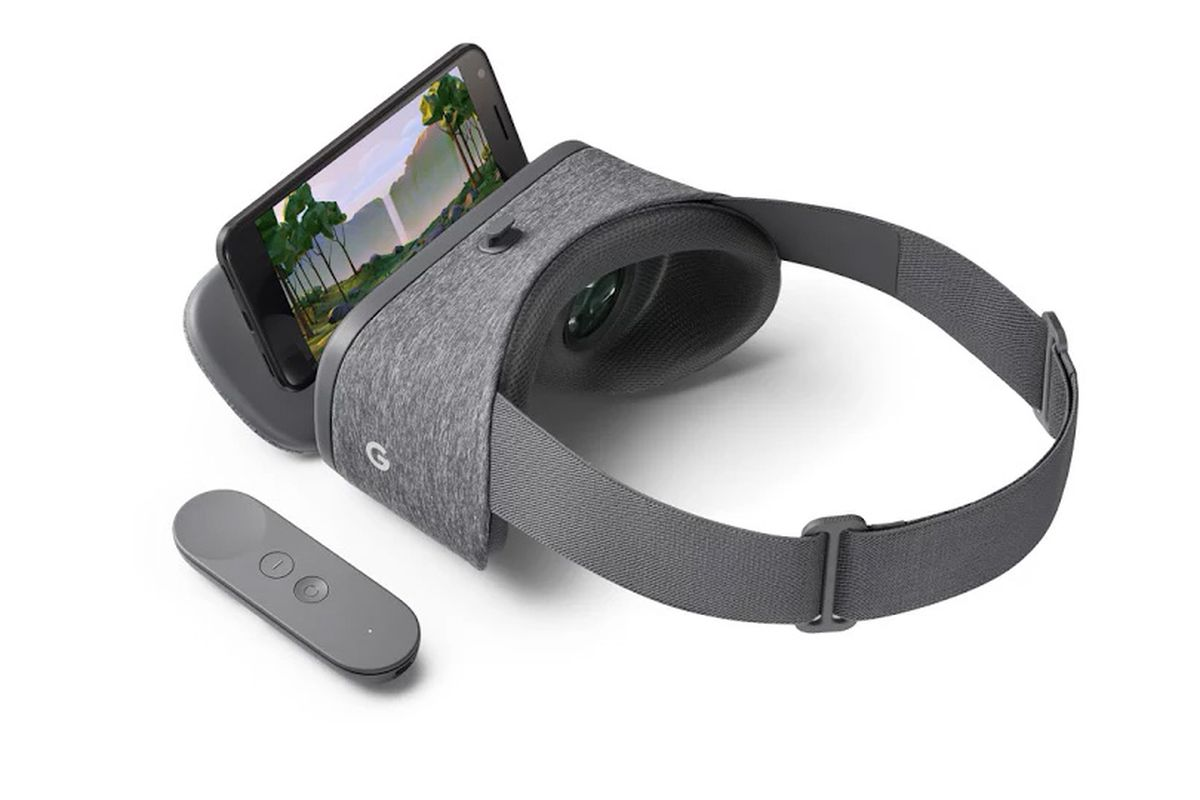 Google Daydream View headset with phone and controller