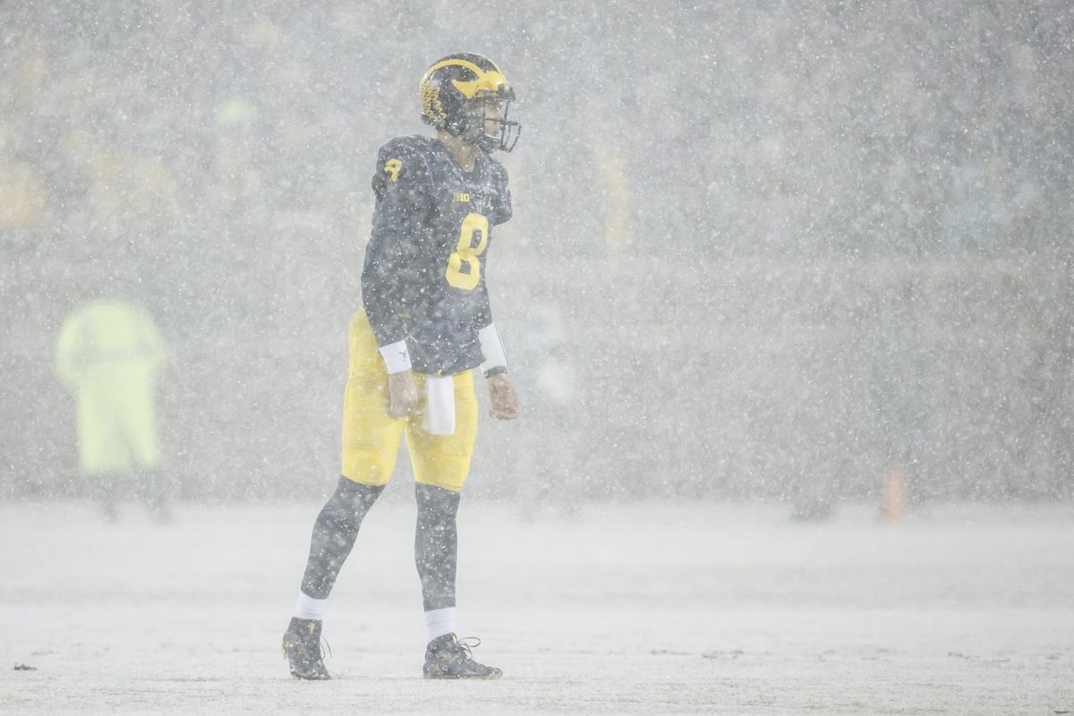 I will stop down and watch any football game in the snow.