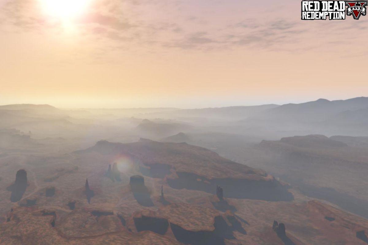 Red Dead Redemption V mod - sun over desert