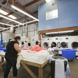 Washing machines and dryers for days.