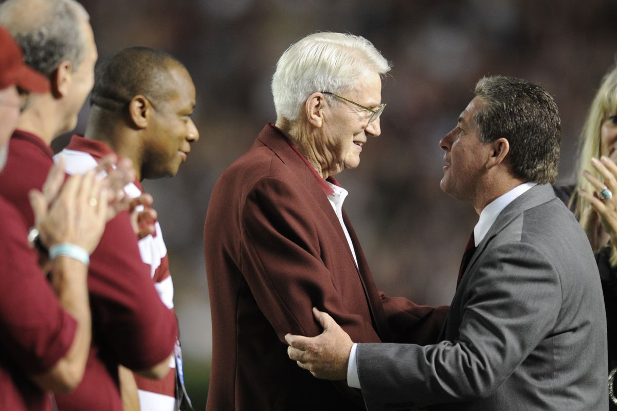 Ray Tanner (right) now faces his biggest challenge as South Carolina AD.