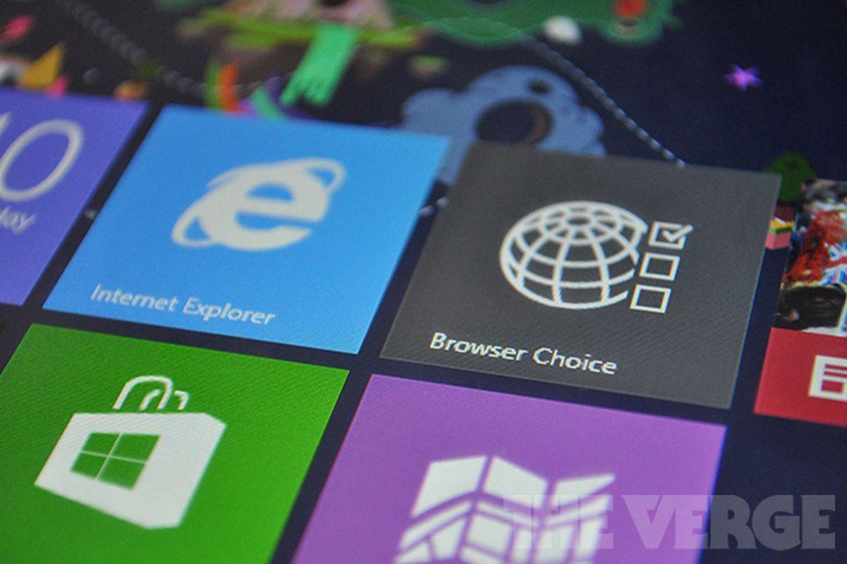 Windows 8 browser choice
