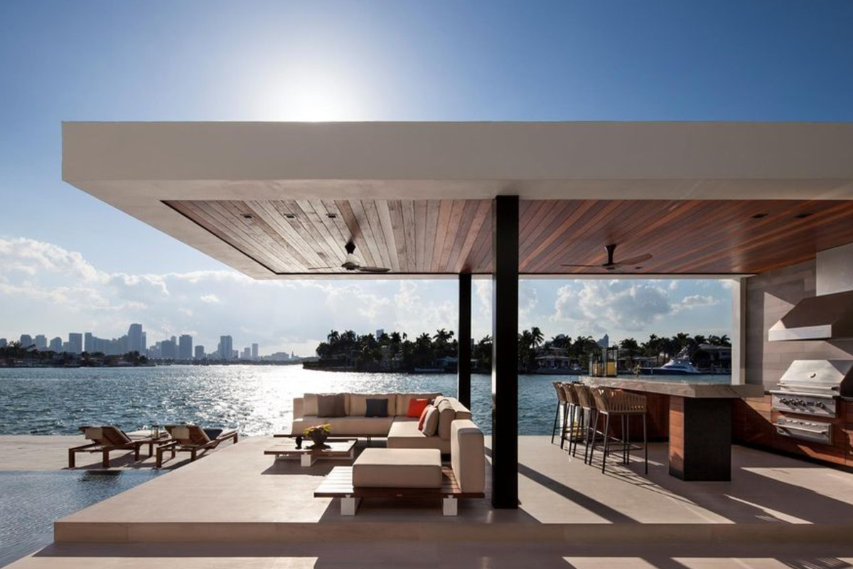 Tropical Modern Miami Beach Mansion Sells For M Curbed Miami - Modern miami furniture