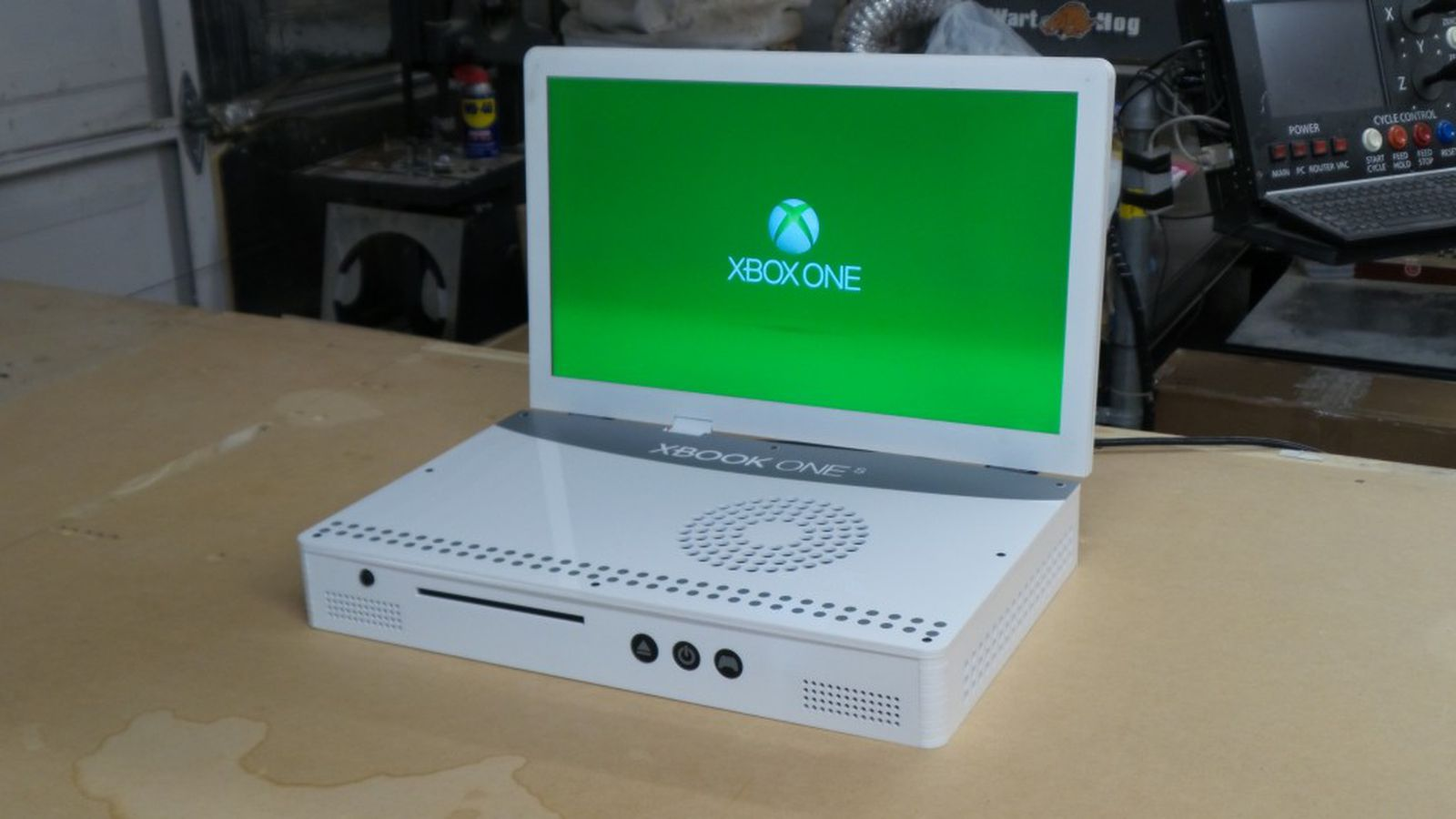 this guy turned an xbox one s into a laptop the verge