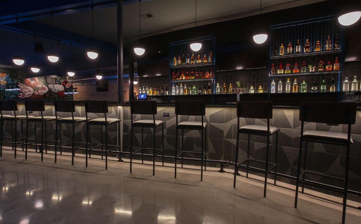 A modern looking bar.