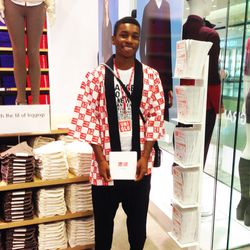 Staffers decked out in Uniqlo garb are everywhere you turn.