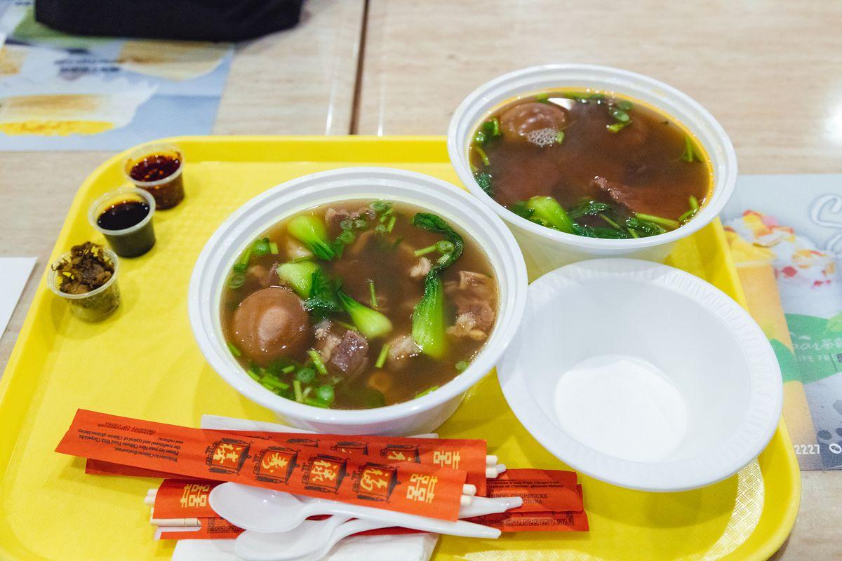 Lanzhou Handmade Noodle's noodle soups