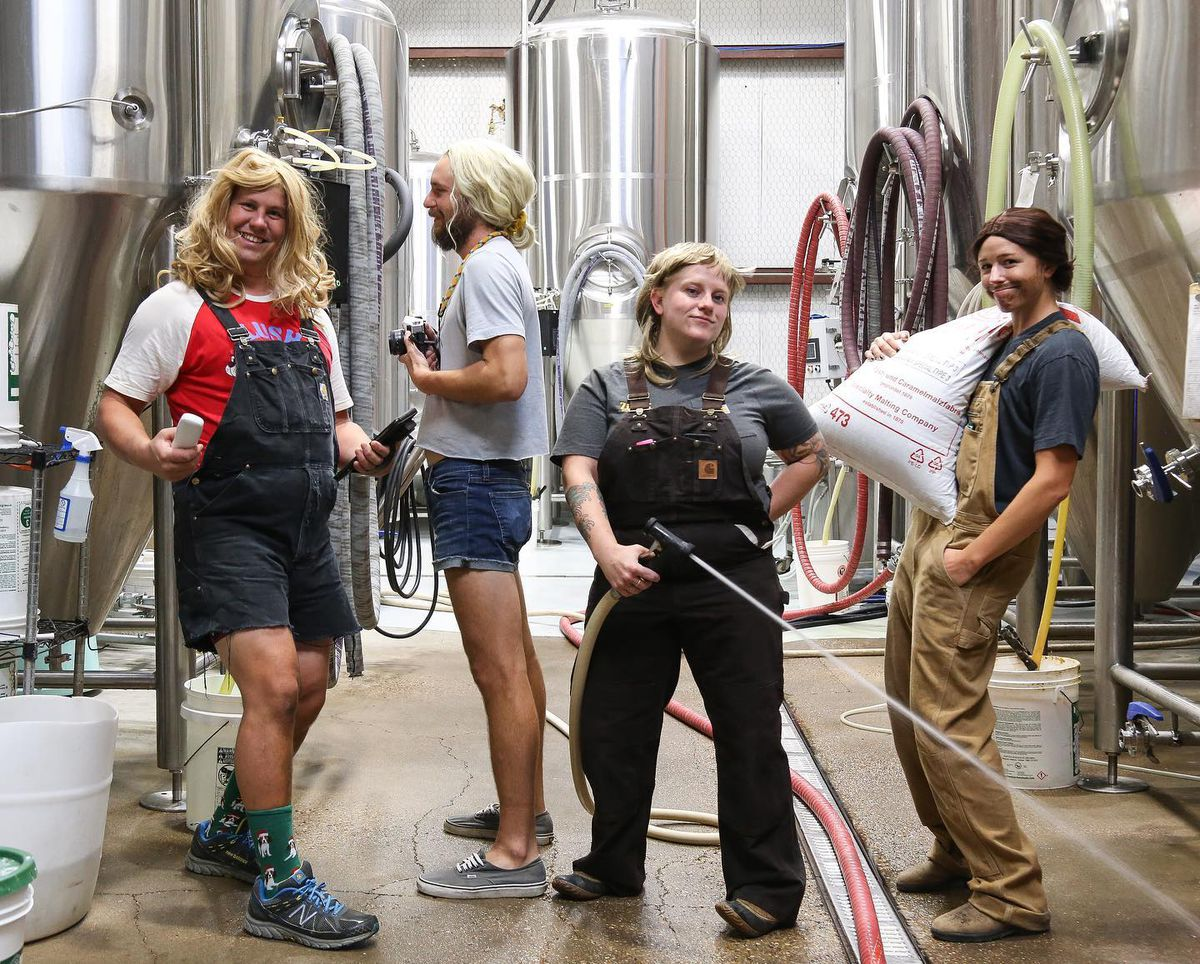 Zilker Brewing staffers dressed up as each other