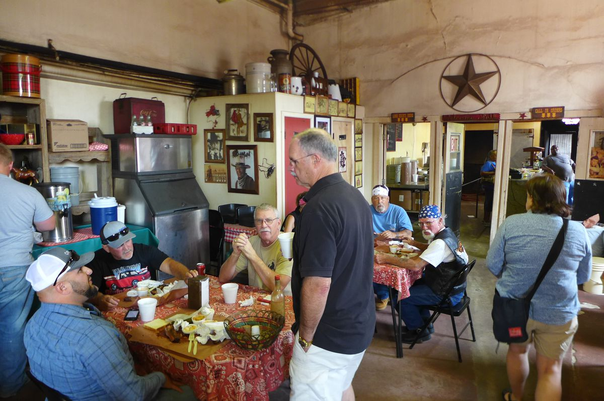 inside City Meat Market in Giddings, Texas