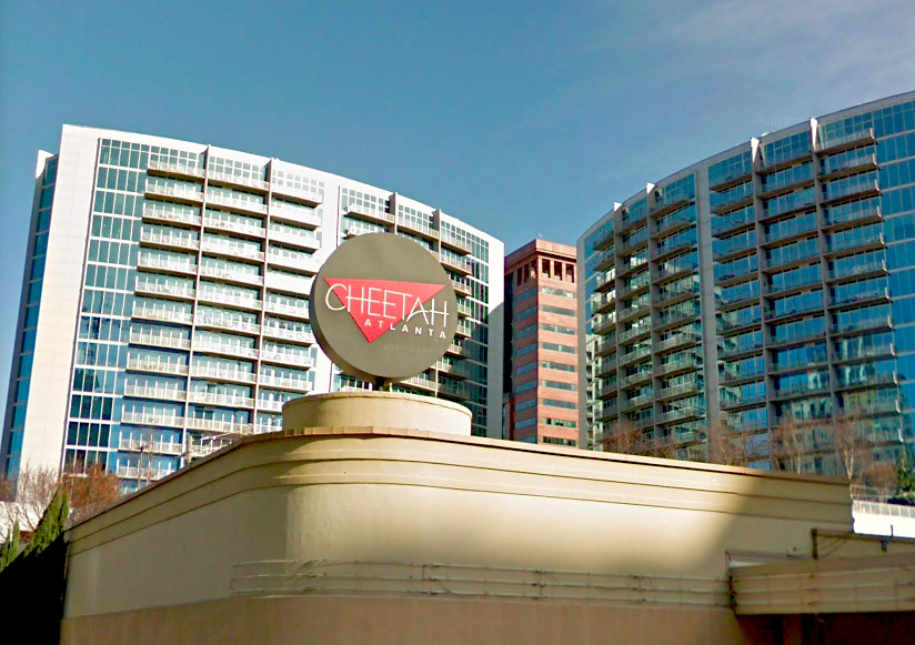The recognizable Cheetah sign, in its former habitat.