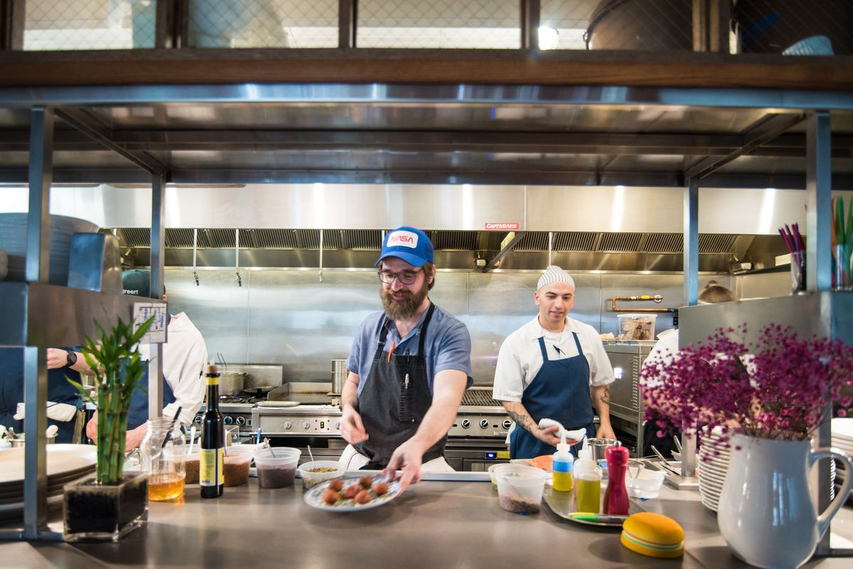 Chef Jon Sybert will have a wood-burning grill to play with at Reveler's Hour