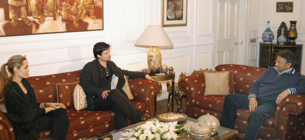 Angelina Jolie And Brad Pit Visit President Musharraf