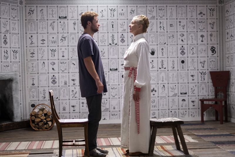 A scene from Midsommar