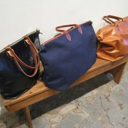 Great leather unisex travel totes