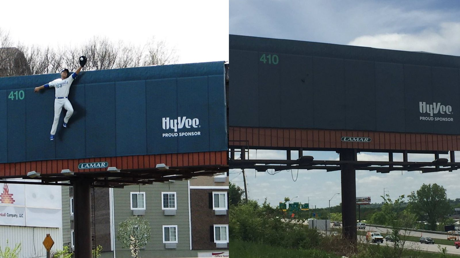 Someone Stole A 14 Foot Royals Player Off A Billboard