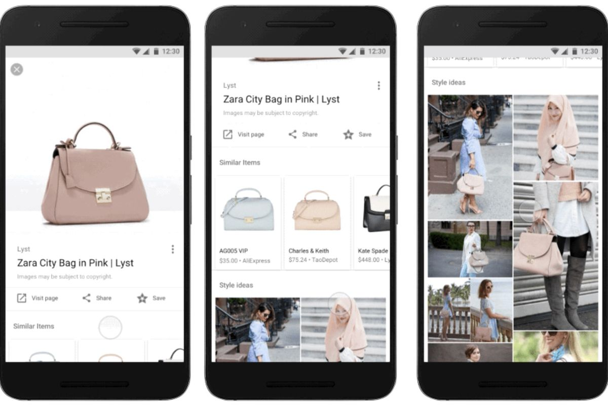 Shopping suggestions in Google Image Search