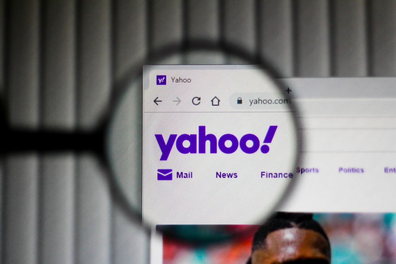 In this illustration the homepage of the Yahoo website is...