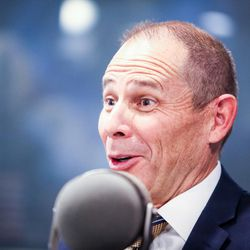 Republican John Curtis reacts during an on-air debate between 3rd Congressional District candidates hosted by KSL Newsradio in Salt Lake City on Tuesday, Oct. 10, 2017. Curtis is vying to fill the remaining year of former GOP Rep. Jason Chaffetz's term. Chaffetz, now a Fox News contributor, resigned June 30.