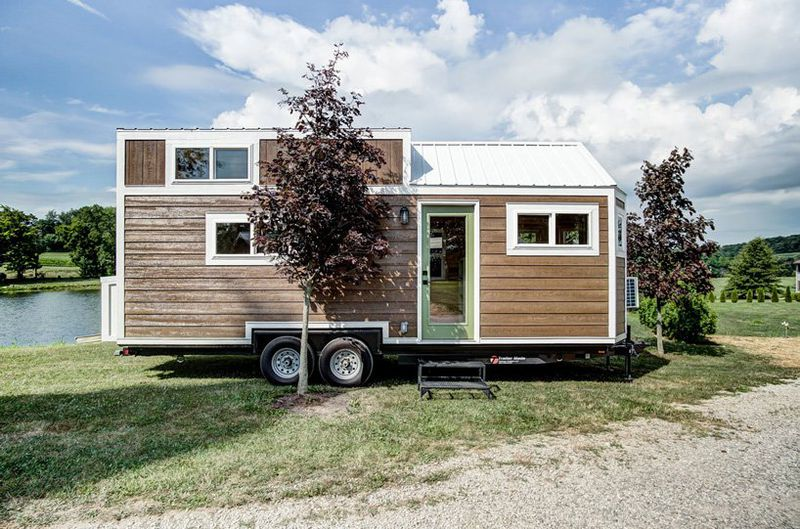 Outside of tiny home