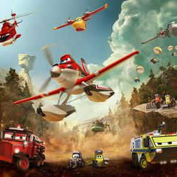 """The aircraft team in Disney's """"Planes: Fire & Rescue"""" battles a massive wildfire."""