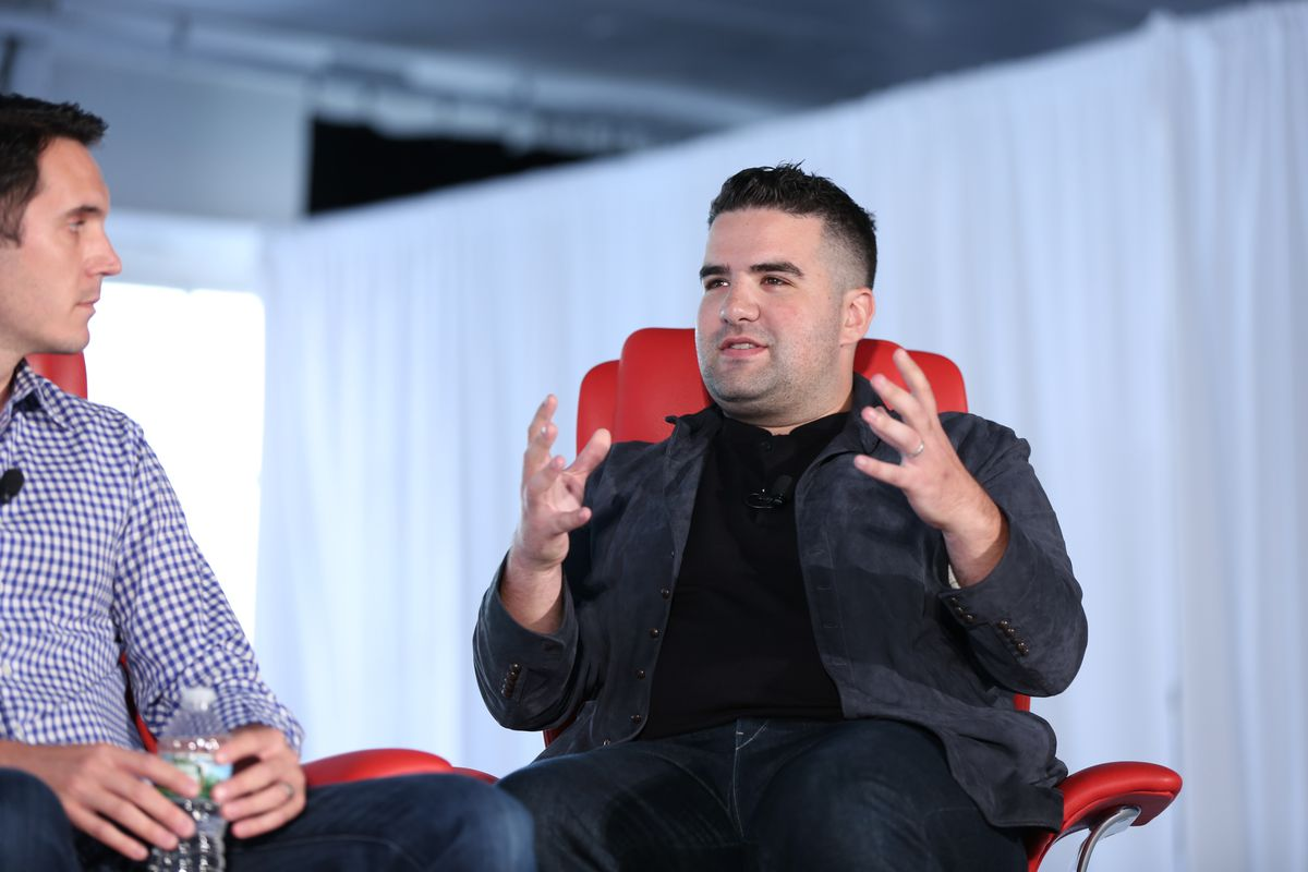 Ben Kaufman, the head of BuzzFeed's Product Labs, speaks onstage at Code Commerce.