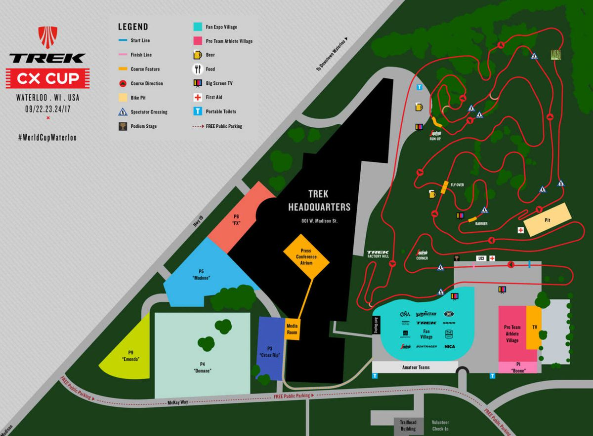 Waterloo World Cup course map