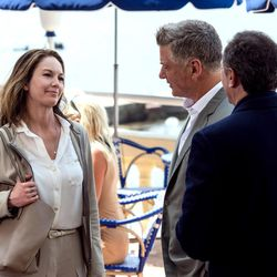 """From left, Diane Lane as Anne Lockwood, Alec Baldwin as Michael Lockwood and Arnaud Viard as Jacques Clement in """"Paris Can Wait."""""""