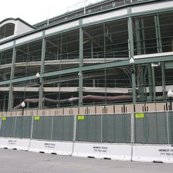 11:31 a.m. Another view of the work taking place along the south (Addison Street) side of the ballpark -