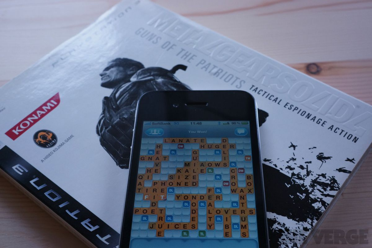 words with friends and metal gear solid 4
