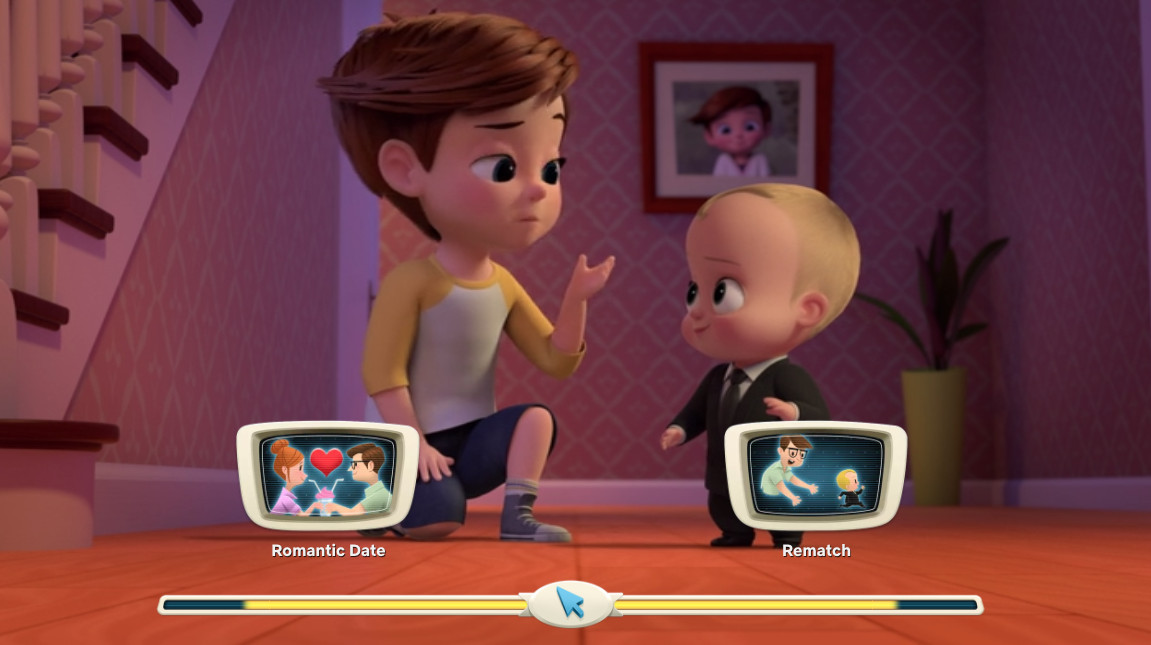 boss baby and his brother making a choice