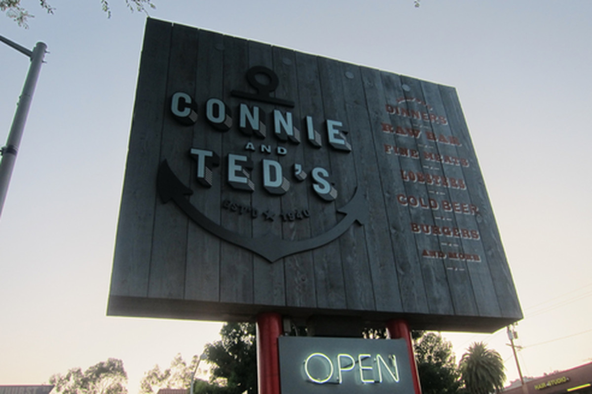 Outside Connie & Ted's, West Hollywood.