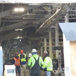 Another view inside the concourse at Gate K on Waveland