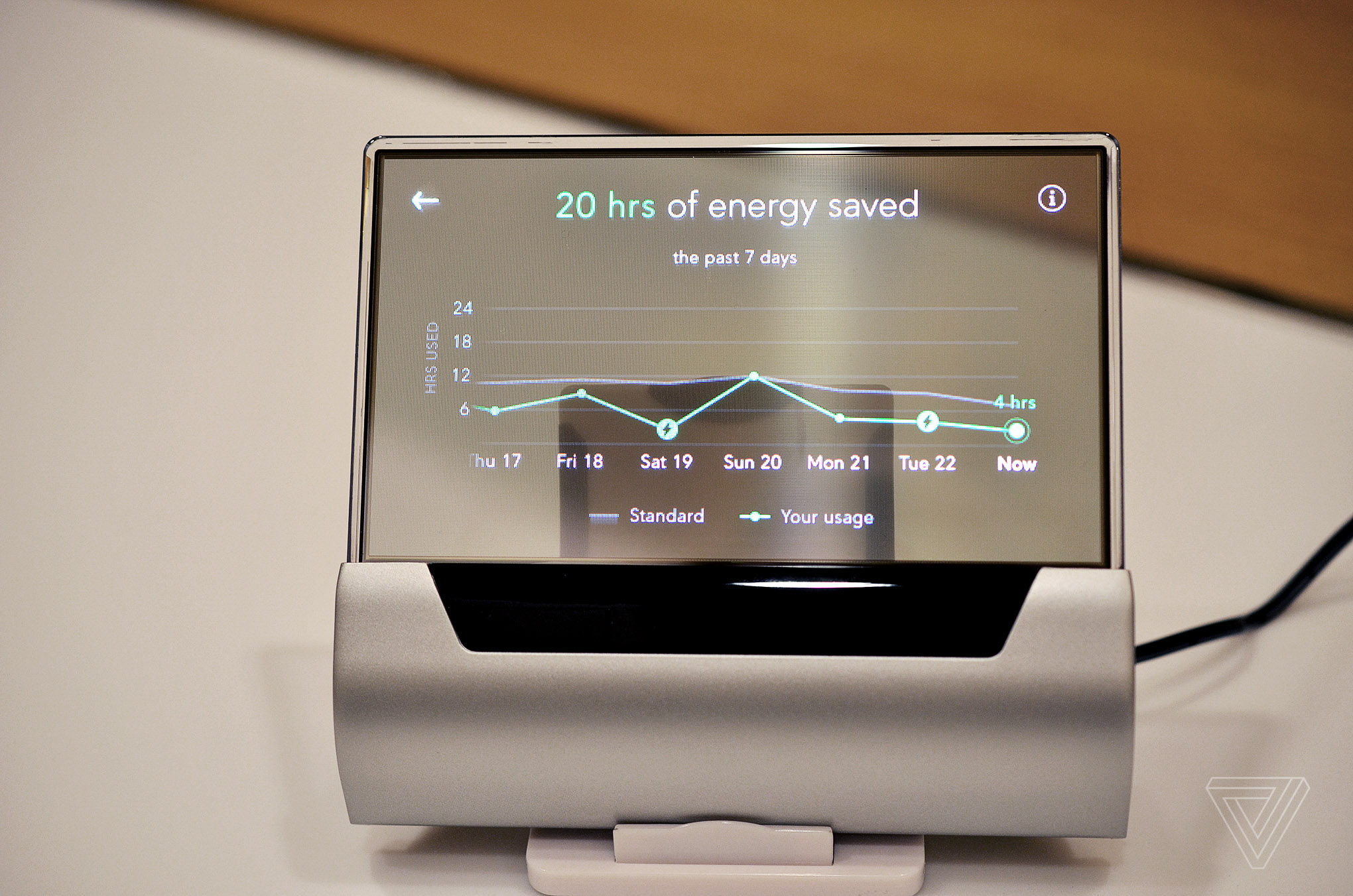 a closer look at the beautiful cortana powered thermostat the verge. Black Bedroom Furniture Sets. Home Design Ideas