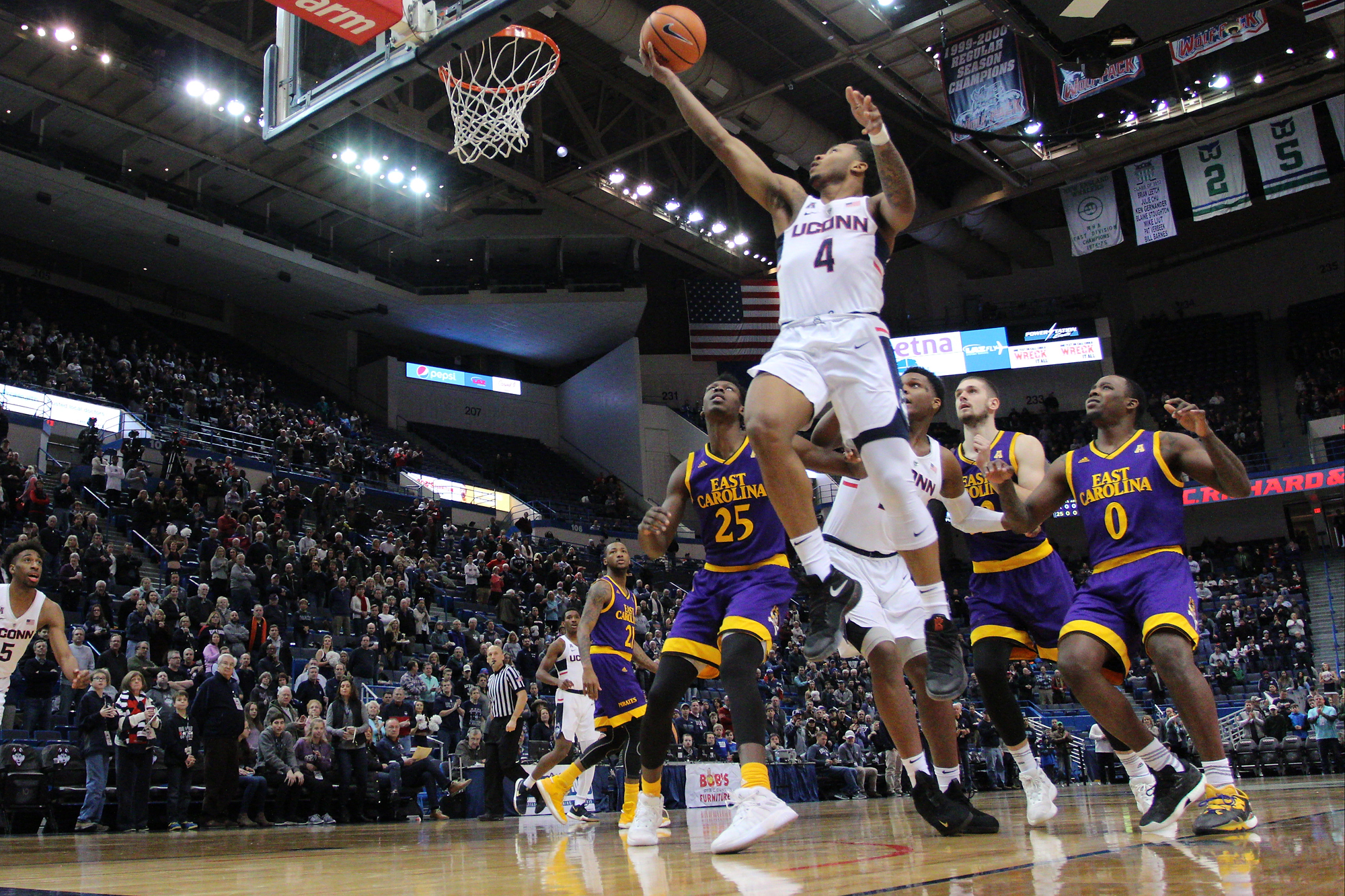 photo gallery: ecu pirates @ uconn men's basketball - 1/6/18 - the