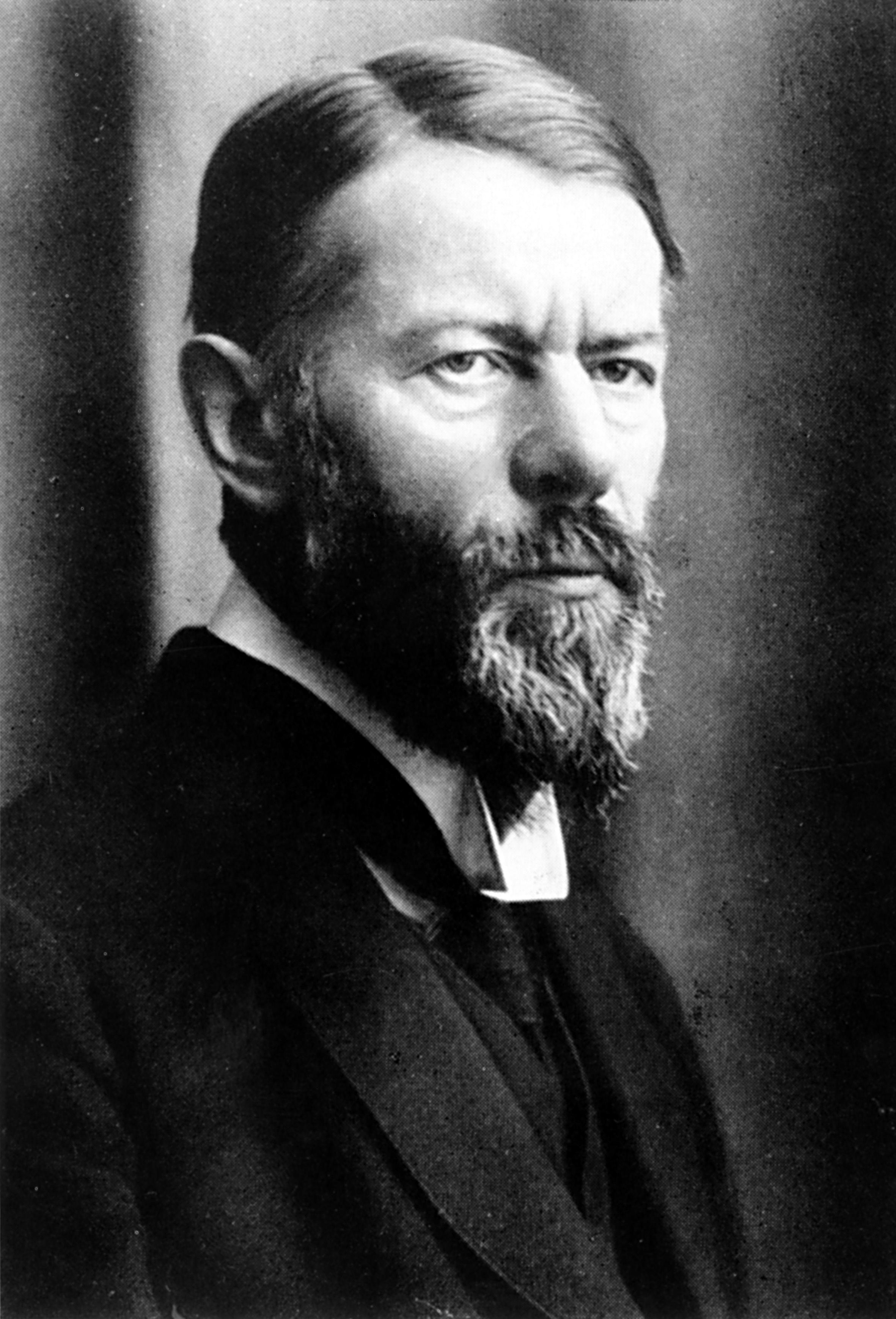 Max Weber, circa 1917.