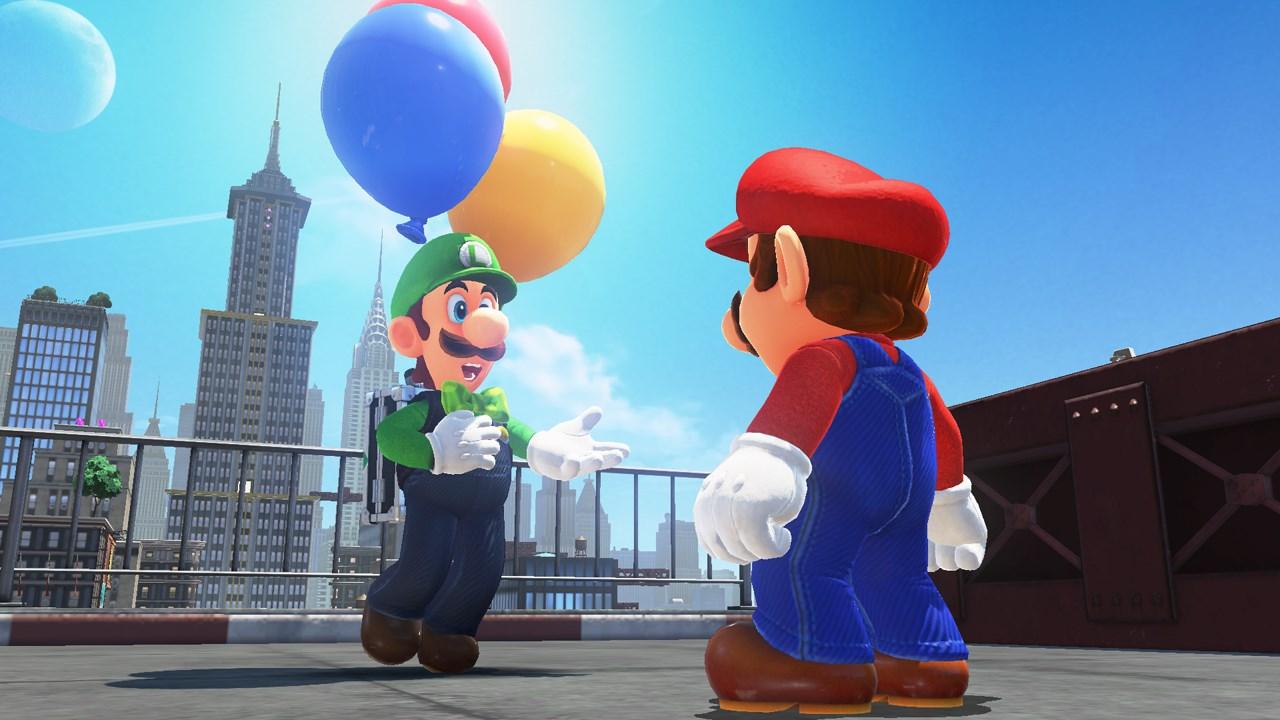 Orderly Mario Odyssey - Mario talks to Luigi in Metro Kingdom
