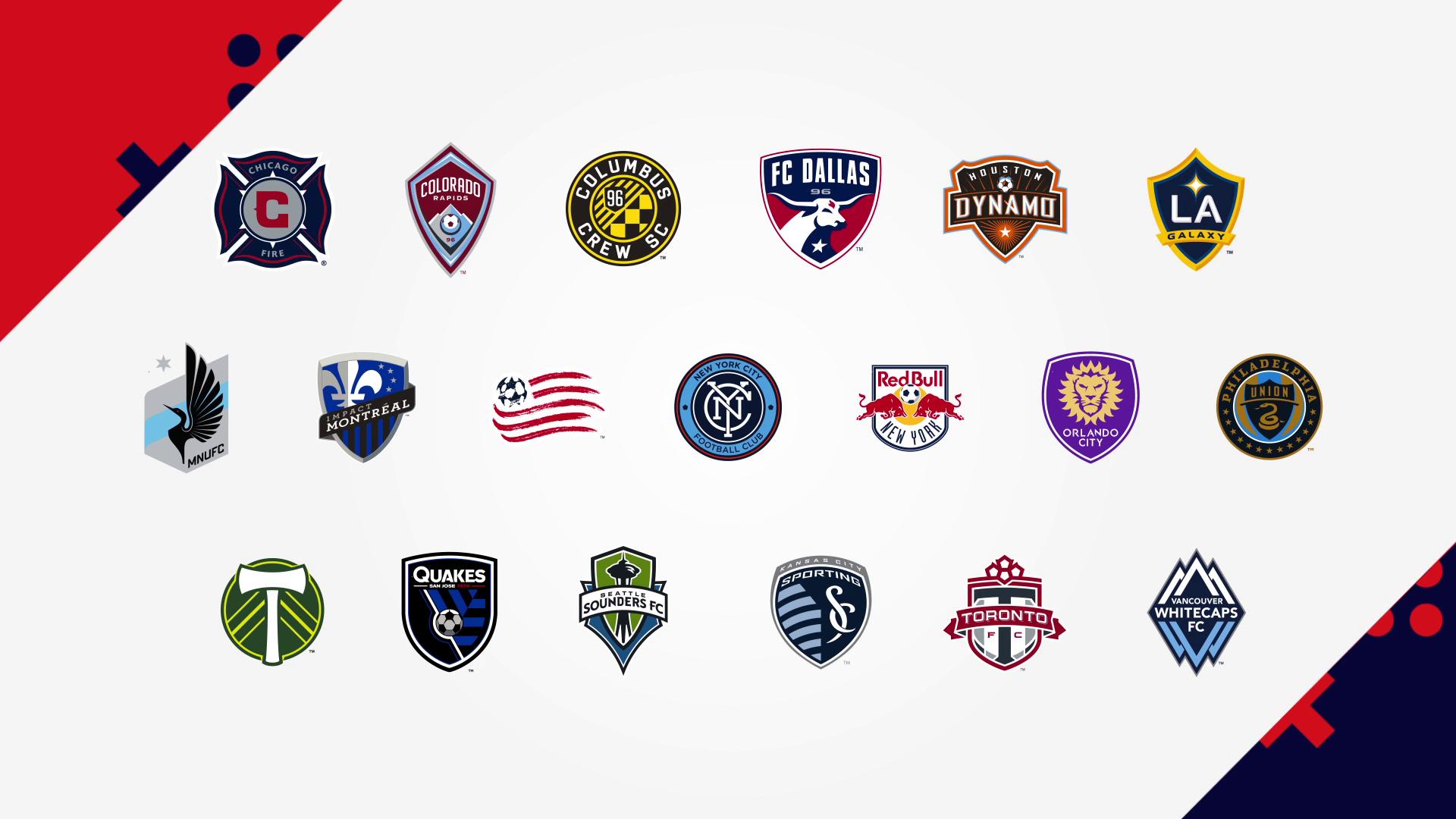 FIFA 18 eMLS - MLS club logos