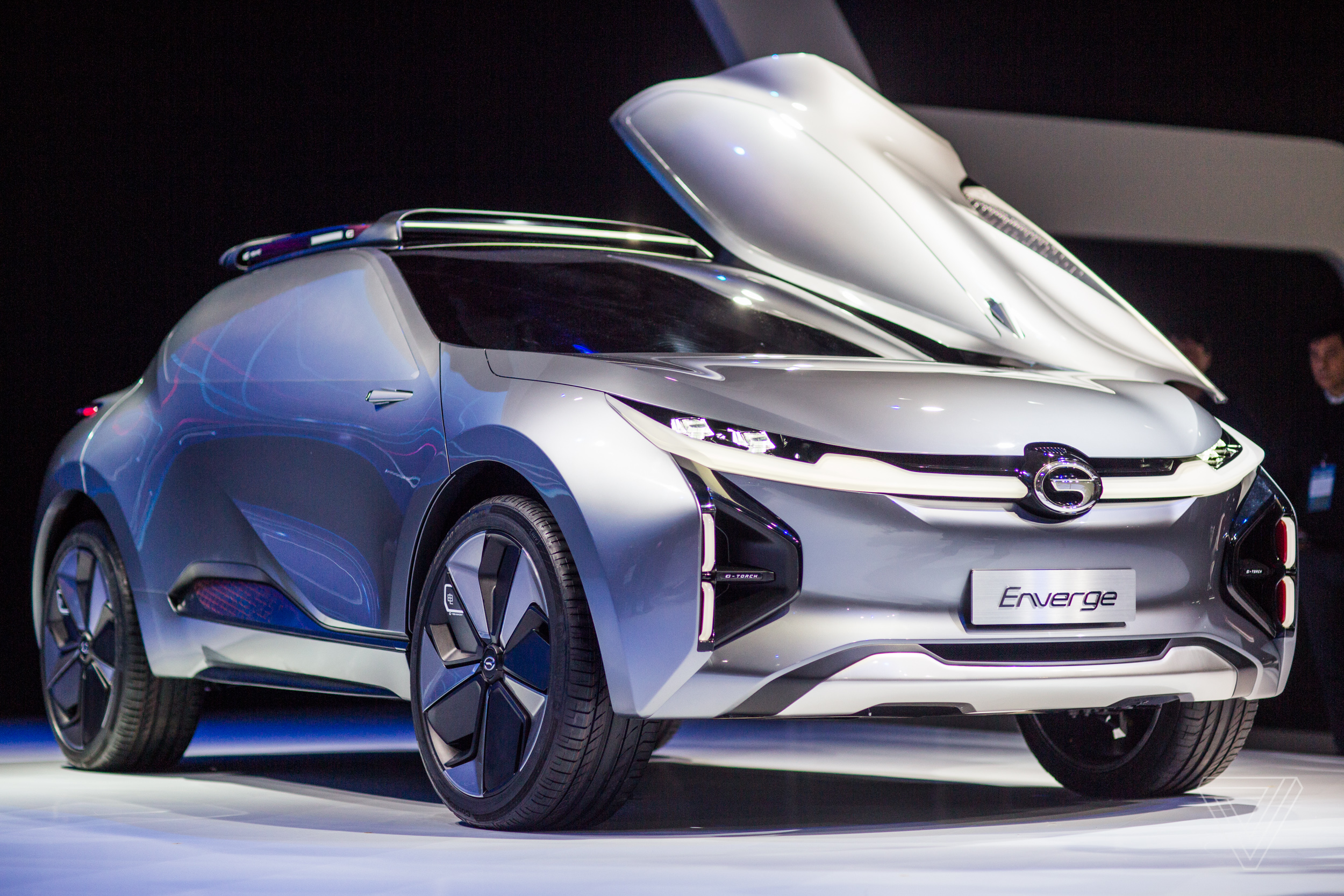 The Enverge is a deadly looking electric car from a ...