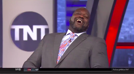 Shaq and Charles Barkley could not stop giggling at Chris Paul's locker room takeover