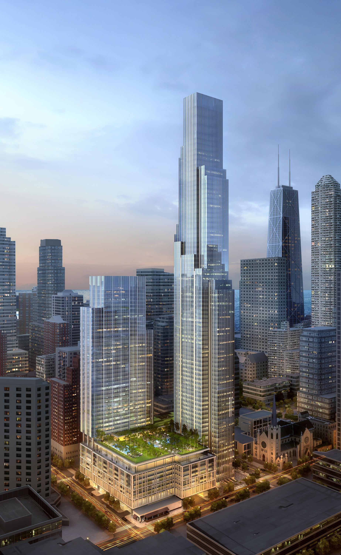 proposed river north skyscraper development adds traffic. Black Bedroom Furniture Sets. Home Design Ideas