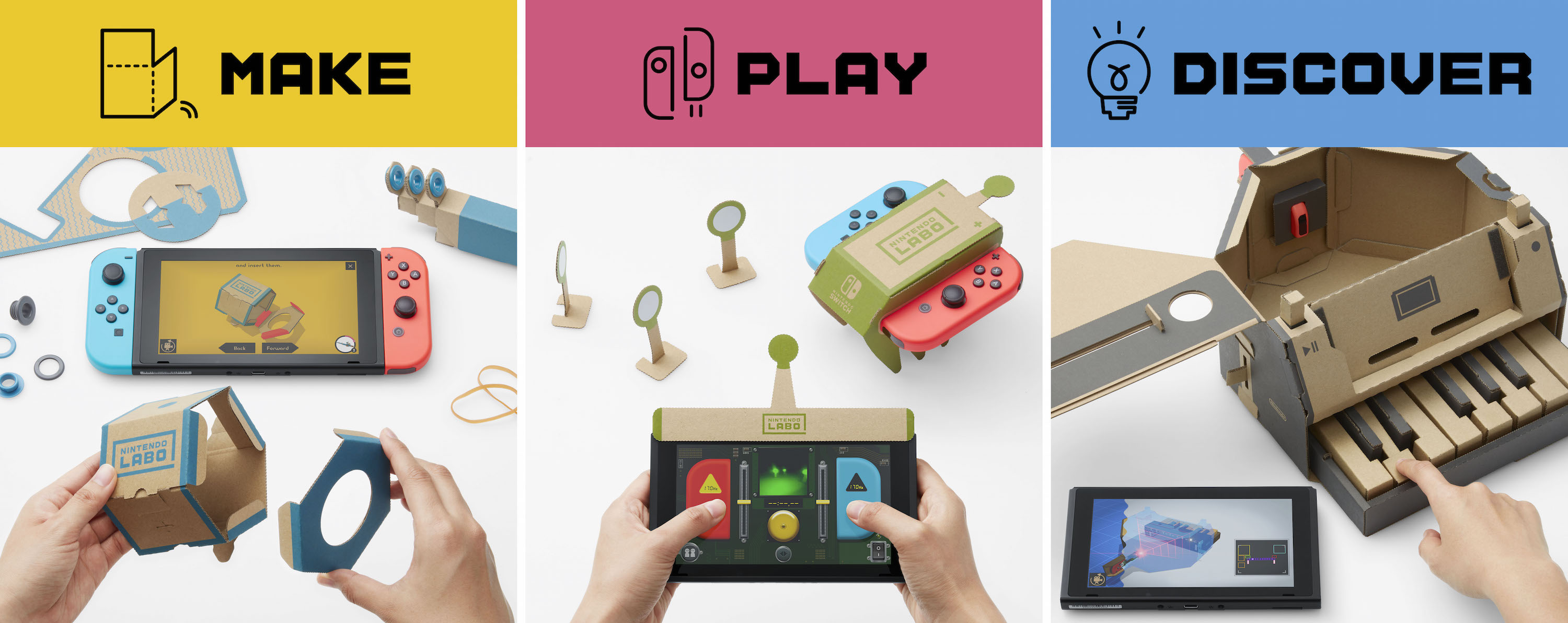 Then Came The Play Aspect Of Labo Each Of The Toy Con Accessories Has An Ociated Interactive Experience That Involves The Joy Con Controllers
